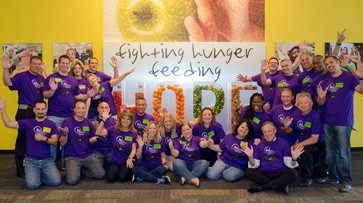 Rosen employees supporting Second Harvest Food Bank